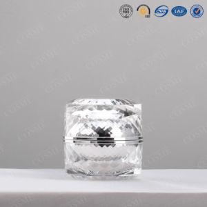 装飾的な瓶のプラスチック瓶、クリーム色の瓶
