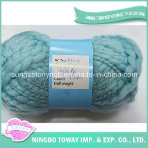 Fio de tecelagem do acrílico do fio para confeção de malhas das luvas do fio extravagante