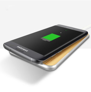 Высокопроизводительные Banboo алюминиевая беспроводная зарядное устройство для Galaxy S7