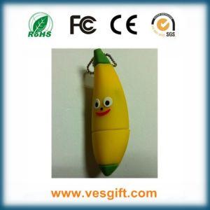 Мода дизайн ПВХ флэш-накопитель USB банана