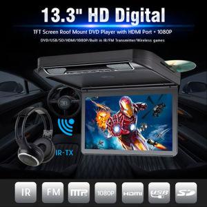 13.3는  텔레비젼 FM IR USB SD 무선 게임을%s 가진 모든 차를 위한 차 DVD 플레이어를 튀긴다 아래로