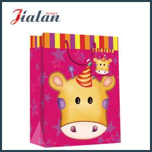 도매 만화 동물 디자인 아기 쇼핑 운반대 선물 종이 봉지