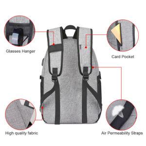 2018 Novo Design à prova de carregamento USB inteligente mochila Notebook empresarial anti-roubo