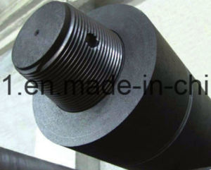 Eléctrodo de grafite UHP com soquete de rosca cônica e lubrificação