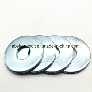 La norme DIN9021 Larg Taille de la rondelle plate avec plaqué zinc