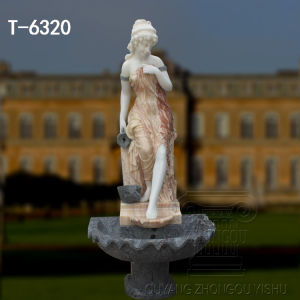 La naturaleza de la piedra de mármol tallado Jardín estatua decorativa Fuente de agua