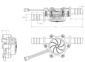 Lpm 0.3-103.6-26.4V Usn Caudalímetro agua-HS10PA POM Isentrol