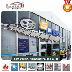 炎-映画館の中心のためのガラス壁が付いている抑制映画館のテント
