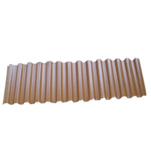La couleur de fer métallique recouvert de tôle de toit