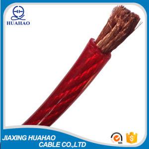 Красный прозрачный ПВХ изолированных медных проводника автомобильный кабель питания