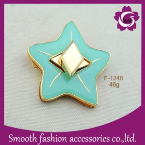 Epossidico Cinque-Aguzzo della stella dell'inarcamento della serratura del metallo di modo per il hardware dei sacchetti