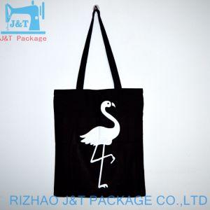 140 grs de algodón negro Calico Bolsa de compras de promoción con la impresión personalizada