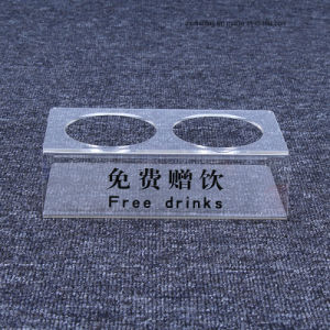 De hete Tribune van de Houder van de Vertoning van de Dranken van de Drank van het Hotel van de Verkoop Acryl