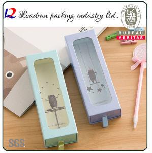 Scatola di presentazione di plastica impaccante del contenitore di imballaggio della casella della penna della visualizzazione del documento della casella della penna del regalo della matita di legno (YSD37)