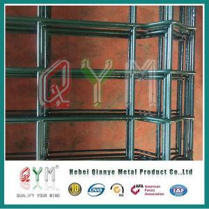 quadratischer bearbeitetes Eisen-geschweißter Maschendraht-Zaun des Pfosten-3D