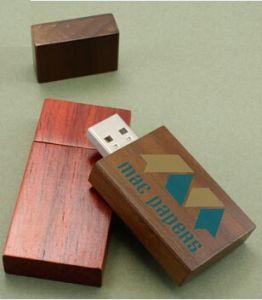 Стильный деревянный Custom флэш-накопитель USB с Логотип (АПН-015П-4)