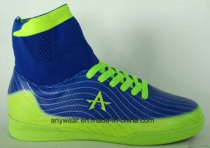Fútbol Sala Fútbol superior Flyknitting calzado zapatos de goma (175)