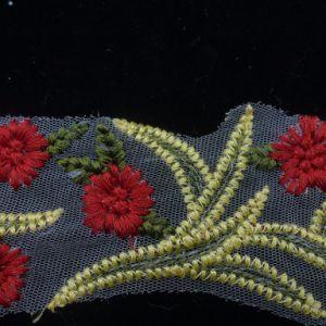 Tessuto multicolore della decorazione del merletto del ricamo del fiore all'ingrosso di modo 3D