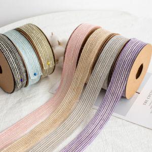 Los fabricantes que venden ropa de cama con cinta Manual de bricolaje de hilo de alambre de pesca con cuerda de cáñamo Manual de bricolaje pesca el algodón y el subproceso de ramio cinta tejida de fibra de algodón color