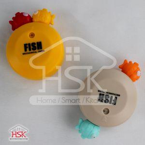 Temporizador de cozinha mecânica de peixe com íman 60 Min Ot-D024
