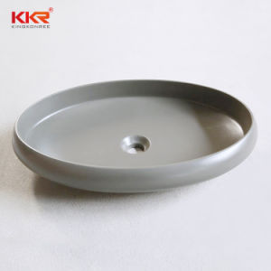 Banheiro Sanitaryware vaidade superfície sólida de resina Lavatório de pedra