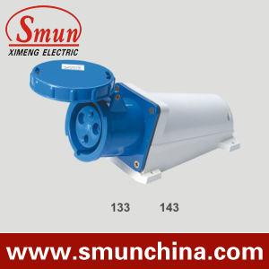 63A 125 синий 3 контактный разъем для установки на стену, промышленного разъема IP67, PA66 220-415V