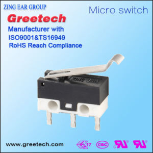 Mini Micro- Schakelaar 0.1A met de Hefboom van de Rol voor de Raad van PCB