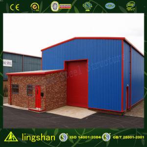 Corrugated стальной лист покрыл светлую стальную конструкцию пакгауза (L-S-143)