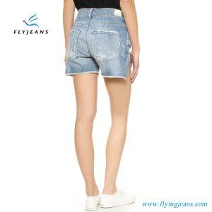 2017 nuovi Shorts del denim dei pantaloni dei jeans allentati lavati indicatore luminoso Relaxed blu di modo donne/delle signore mini da Factory