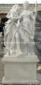Het natuurlijke Witte Marmeren Grote Standbeeld van de Strijder