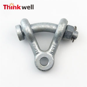 Bola de acero galvanizado de acero forjado y la horquilla de Hardware de la línea de alimentación