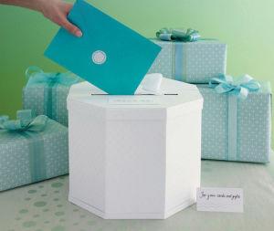 Weißes Hexagon Collection Box für Letters