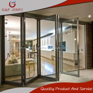 Энергоэффективные индивидуальные алюминиевый профиль складные двери с двойным стеклом