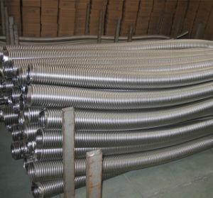 끈을%s 가진 고압 물결 모양 고리 모양 유연한 금속 호스 또는 관