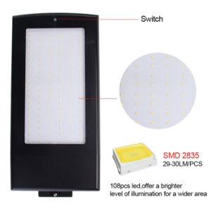 LED 15W 108 Sensor de movimiento del radar de microondas de exterior lámpara solar jardín de la luz de la calle