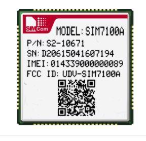 Módulo de 4G7100SIM UM SUPORTE B2/B4/B5/B17 UMTS/HSDPA/HSPA+ B2/B5 Suporte certificado RoHS Ptcrb FCC