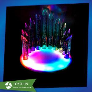 En acrylique transparent bouteille de liqueur glorifier la lumière jusqu'titulaire d'affichage pour la bière