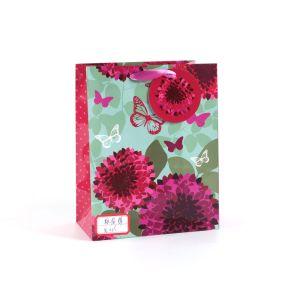 Роуз шаблон синий моды арт бумага с покрытием подарок бумажных мешков для пыли