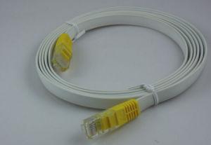 Comercio al por mayor 24AWG UTP Cat5e RJ45 Cable Patch plana