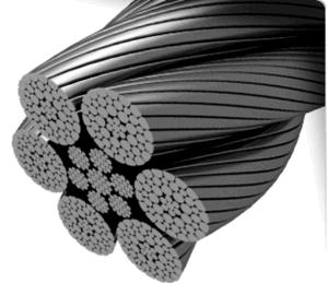 Gli strumenti di sollevamento della costruzione hanno galvanizzato la corda 7X19 del filo di acciaio