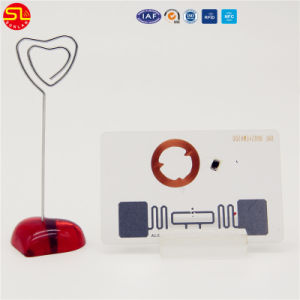 125kHz a RFID Hotel Key Card/cartão de identificação PVC branco Cartão inteligente sem contato com número de série