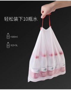 Cordón basura automática máquina de hacer bolsa de basura y la superposición de cinta rodante sacar la bolsa de maquinaria