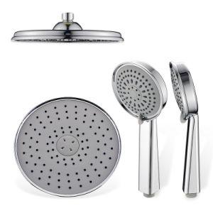 Salle de bain Douche haute pression accessoire de la tête noirs dissimuler de l'ensemble de douche