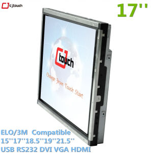 Ecrã táctil de IR em um só PC PC Industrial Elo DVI para VGA USB HDMI RS232 Monitor Venda Displayer Cjtouch