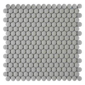 China Cinza mate ronda de porcelana para piso de mosaico em mosaico