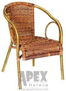Garten-Stuhl-speisende Stuhl-im Freienaluminiummöbel (AS1093BR)