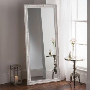 Specchio decorativo della parete del pavimento bianco classico della decorazione