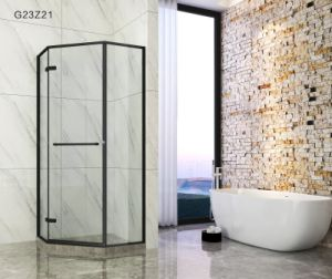 Aço inoxidável emoldurado chuveiro simples banho de gabinete