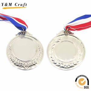 リボンが付いているブランク金か銀によって青銅色にされる亜鉛合金のスポーツまたは連続したメダル