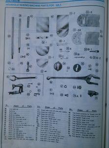 Ha-1 Parte da máquina de costura doméstica